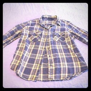 Topshop fitted flannel shirt